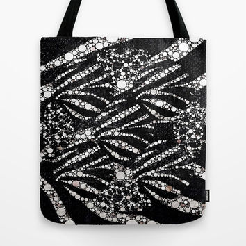 Black&Silver Abstract Bling Pattern  Tote Bag by Amy Anderson