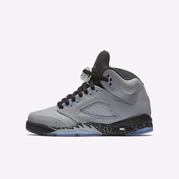 "Air Jordan Retro 5 V ""Wolf Grey"" Grade School/ Men"