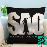 Sword Art Online SAO Logo Zippered Pillow Case, Cushion Case, Pillow case