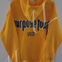 Justin Bieber/ Security - Purpose Tour / VFILES Pop Up Shop Brooklyn Sweatshirt / Yellow Pull over hoodie