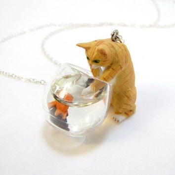 Cat In The Fish Bowl Necklace