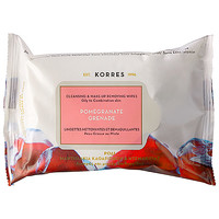 Pomegranate Cleansing & Make Up Removing Wipes For Oily And Combination Skin - KORRES | Sephora