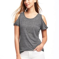 Relaxed Cutout-Shoulder Top for Women | Old Navy