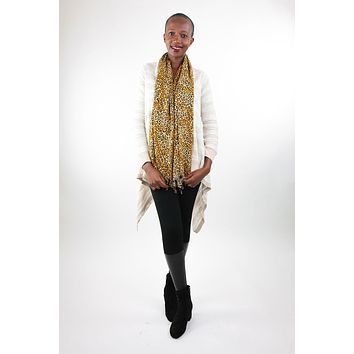 African Scarf-Gold/Black Cheeter Print