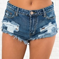 Sunshine Of My Life Distressed Cutoff Shorts (Medium)
