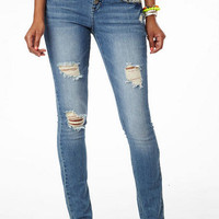 Skylar High Waist Crochet Destructed Jean