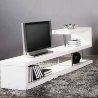 Modrest WIN 5 Modern White Lacquer TV Stand