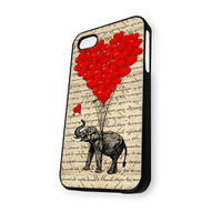 Elephant and heart shaped balloons iPhone 5C Case