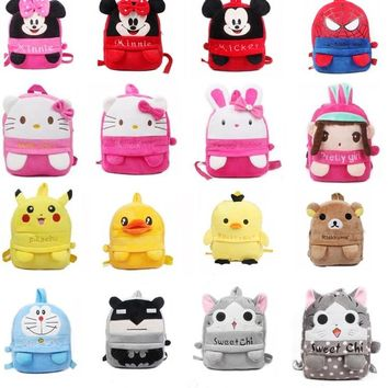 Middle size 3-5 years Cute Cartoon Plush backpack