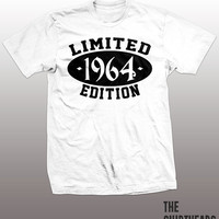 Limited Edition 1964 T-shirt - customize, logo here, men, women, gift, cool tees, funny, established
