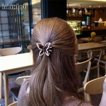 Imixlot 2017 Direct Selling Real Women Hair Clip Fashion Claw Hairpin Accessories For Girl Simple Crab Clamp Butterfly Chris