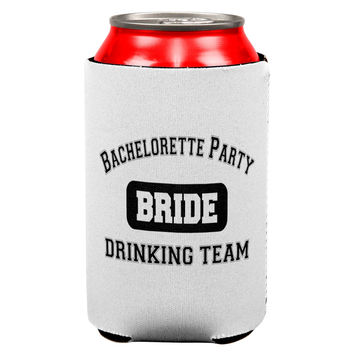 Bride Bachelorette Party Drinking Team Can Cooler