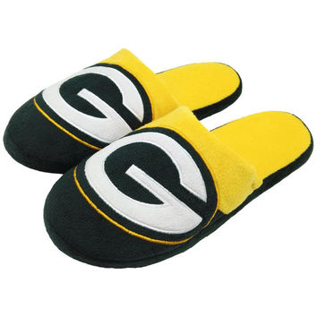 Men's Green Bay Packers Colorblock Slide Slippers