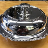 Rare Tiffany & Co. Makers Sterling Silver Covered Vegetable Dish 3 piece