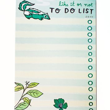 Skunk To Do List Notepad by boygirlparty