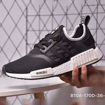 ADIDAS x NBHD x INVINCIBLE NMD Joint Style Tide Brand Fashion Sports Running Shoes F-CSXY black