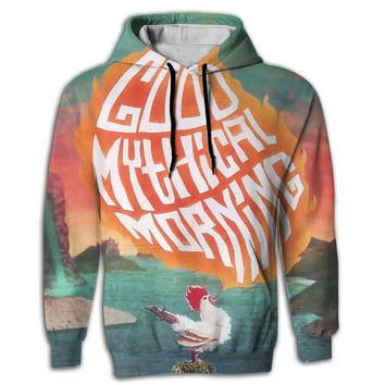 3D Good Mythical Morning 5 Mens Hooded Sweatshirt With Drawstring Pocket Cozy Pullover Hoodies