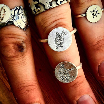 Sterling Silver Grateful Dead Inspired Rings, All Sizes