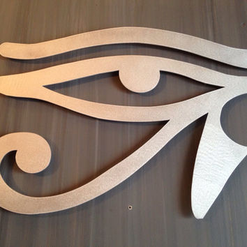 Egyptian Eye Metal Wall Art - Metal Art - Wall Art - Metal Wall Decor - Eye of Horus - Eye of Ra - Egyptian Art - Modern - Contemporary