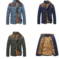 Trendy Men's Colorant Match Brief Thermal Wadded Jacket Thickening Cotton-padded Jacket Winter Slim Jacket [7898944967]
