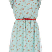 Vintage floral dress - View All - Dresses - Dorothy Perkins
