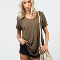 Knitted Pocket Tee