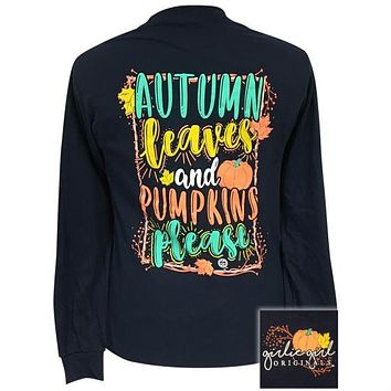 Girlie Girl Originals Autumn Leaves Fall Long Sleeve T-Shirt