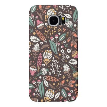 Pretty Vintage Floral Pattern Samsung Galaxy S6 Cases