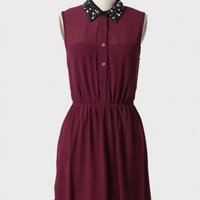 city glitz embellished collar dress at ShopRuche.com