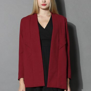 Out of the Ordinary Blazer in Wine