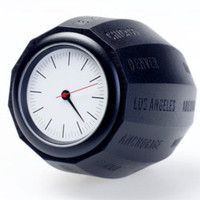 Analog World Time Clock by Charlotte Van der Waals - Pure Modern Design Lifestyle Objects