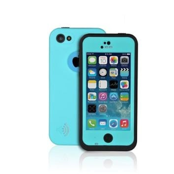 iBeek Waterproof Dirtproof Snowproof Shockproof Case Cover for iPhone 5C (SKY BLUE)