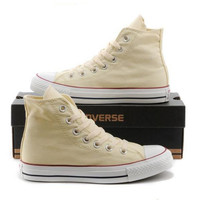 """""""Converse"""" Fashion Canvas Flats Sneakers Sport Shoes Hight tops Beige"""