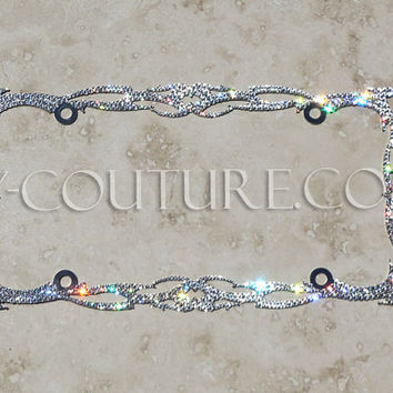 Crystal Twilight BLING License Plate Frame with Swarovski