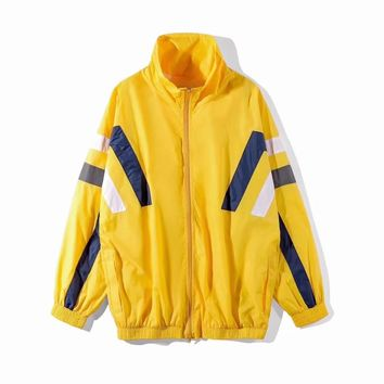 2018 Spring and summer new Balenciaga show field striped jacket sport Leisure jacket 013
