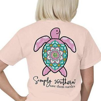 Youth Simply Southern Save The Turtles Tee - Pink