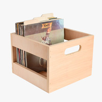 Maple Record Crate