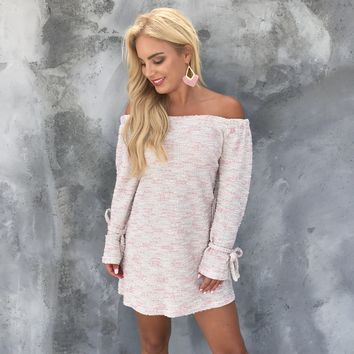 Jocelyn Knit Off Shoulder Dress