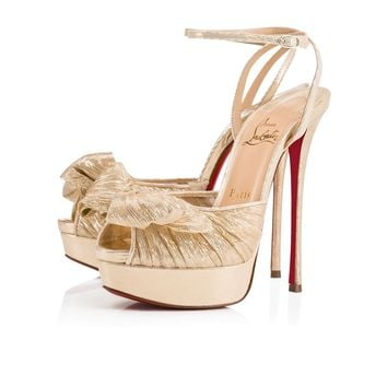Christian Louboutin Cl Artydiva Platine Chiffon 18s Special Occasion 1180167pl07 - Best Online Sale