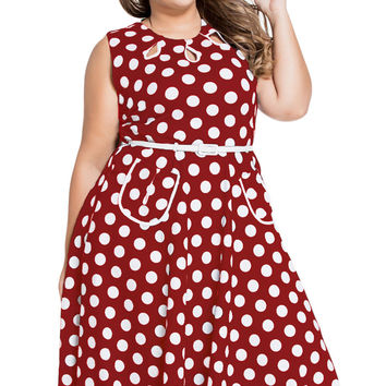 Vintage Takeover Polka Dot Dress