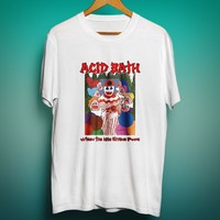 Acid bath metal band logo T-SHIRT