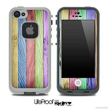 Slanted Color Wood V6 Skin for the iPhone 5 or 4/4s LifeProof Case