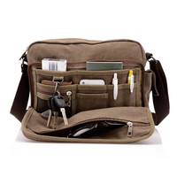 High Quality Men Canvas Crossbody Bag