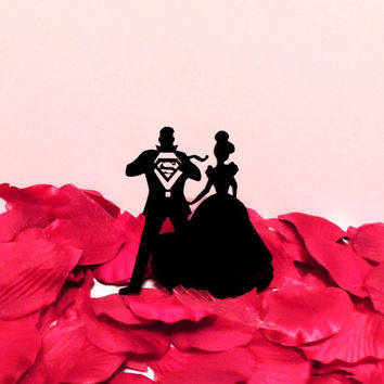 Cinderella and Clark Kent Cake Topper