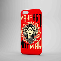 Obey Make Art Not War iPhone Case Galaxy Case 3D Case