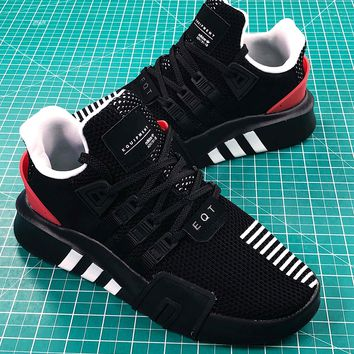 Adidas Eqt Basketball Adv Black White Red Sport Running Shoes Sale