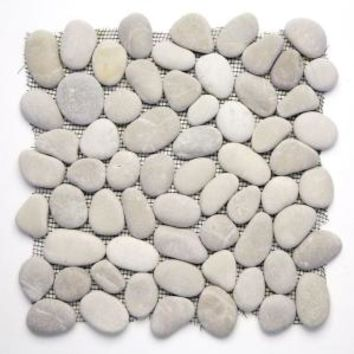 Solistone, River Rock Brookstone 12 in. x 12 in. Natural Stone Pebble Mosaic Floor and Wall Tile (10 sq. ft. /case), 6001 at The Home Depot - Mobile