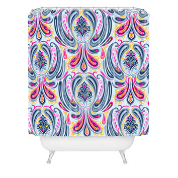 Mary Beth Freet Indigo Scrolls Shower Curtain