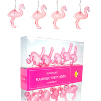Sunnylife Australia Pink Flamingo Indoor and Outdoor String Lights