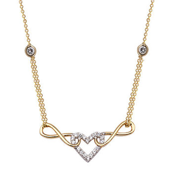 Heart Infinity 14k Solid Gold Necklace Best Price